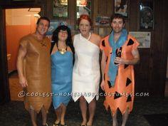 Homemade Flintstones Group Halloween Costume