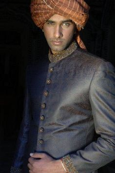 Beautifully understated grey sherwani.  --- #Indian men's wedding wear