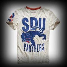 スーパードライ極度乾燥 Panthers T-shirt Tシャツ アバクロ ホリスターより個性派! #ITSHOPアバクロcom  グラフィックなアニマル柄のスクリーンプリントと袖にまでプリントされてるのがお洒落。