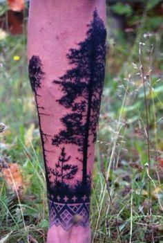 Ideas Pine Tree Tattoo Arm Sleeve Beautiful For 2019 Pine Tattoo, Wüsten Tattoo, Tree Tattoo Arm, Tattoo Hals, Leg Tattoos, Body Art Tattoos, Tribal Tattoos, Sleeve Tattoos, Tatoos