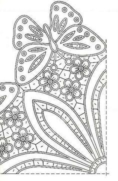 Love the corner detail, would make a lovely fleur-de-lys with small modification Cutwork Embroidery, Vintage Embroidery, Embroidery Stitches, Embroidery Patterns, Free Machine Embroidery, Machine Quilting, Tattoo Dentelle, Quilted Christmas Ornaments, Mini Cross Stitch