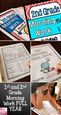Morning work for the whole year! There is a first grade bundle and a second grade bundle. These work great for creating a morning routine in the classroom.
