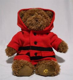 This Gund bear was released by the Hudson Bay Company. It has the gold B logo on one foot. $29.99 on ebay.