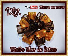 Diy. Moño Flor de Liston Mirna y sus manus. Diy.Easy ribbon flowers
