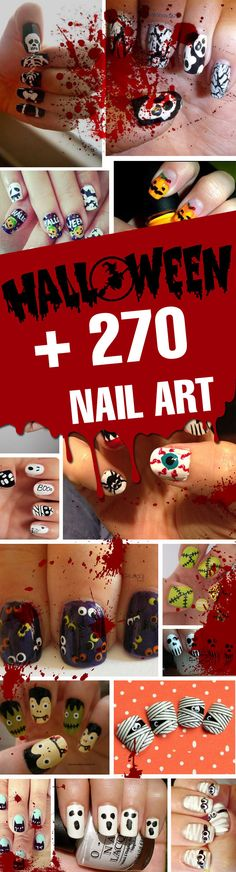 + 270 Diseños de Uñas de Halloween 2017 | #Halloween #nailart