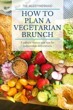 5 sample menus for a vegetarian brunch Mimosa Brunch, Brunch Menu, Vegetarian Brunch, Sample Menu, Easy Food To Make, Morning Food, Meatless Monday, Menu Planning, Fresh Fruit