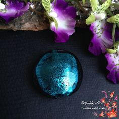 """1 runde Glasperle """"Dunkeltürkis"""". Für viele kreative Ideen geeignet. Diese Perle ist eine absolute Augenweide!!!"""