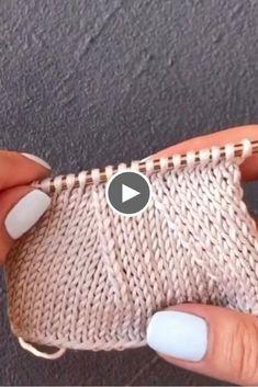 Nice Stitch Technique For Beginner – Knitting patterns, knitting designs, knitting for beginners. Beginner Knitting Patterns, Knitting Stiches, Knitting Videos, Easy Knitting, Knitting For Beginners, Knitting Designs, Crochet Cable, Irish Crochet, Diy Crafts Knitting