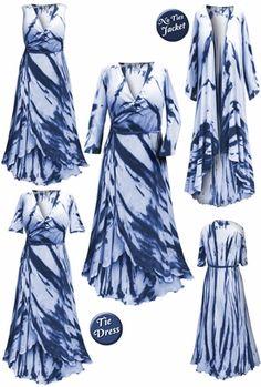 4611ea0561d Plus Size Navy Tie Dye Print Cascading Wrap Dresses