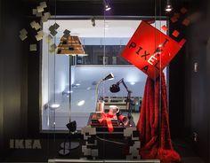 Post-it Note Window Displays Visual Merchandising Arts, School of Fashion at Seneca College. Seneca College, Public Display, Window Displays, Visual Merchandising, Workshop, Presentation, Table Lamp, Windows, Note