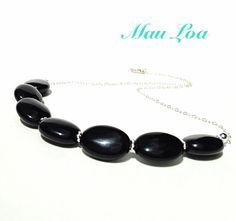 Black onyx necklace  all sterling silver  fine by MauLoaJewelry, $88.00