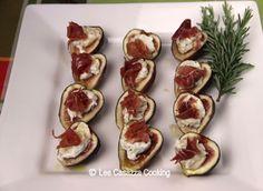 Big Mamma's Italian American Cooking: FIGS WITH GOAT CHEESE, ROSEMARY, & PROSCIUTTO DI P...