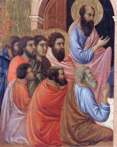 The apostles of Maria (Fragment) by @artbuoninsegna #protorenaissance