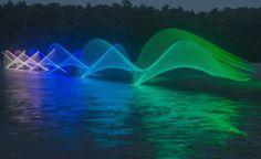 Blurred LED Light Kayak Paddle Strokes by Stephen Orlando