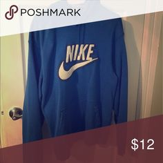 Large Nike blue hoodie Smoke-free home. 🚭 same day shipping! 📦 see all my other listings & positive feedback! 🎀 Have a great day! ❤️ Nike Tops Sweatshirts & Hoodies
