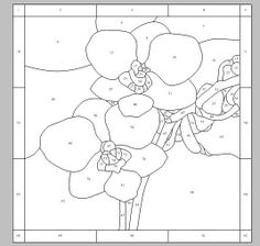 Orchids pattern by Shelly Carpenter Wood