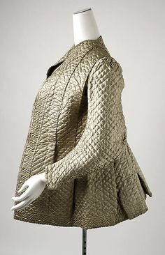 Bed jacket Date: 1700–1750 Culture: British Medium: silk Dimensions: Length at CB: 25 in. (63.5 cm) Credit Line: Isabel Shults Fund, 1986 Accession Number: 1986.179.1