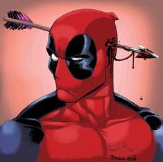 09 2016 by Timothy-Brown Marvel Fan Art, Marvel Dc Comics, Marvel Avengers, Deadpool Love, Deadpool Art, Deadpool Tattoo, Superhero Characters, Marvel Comic Character, Comic Panels