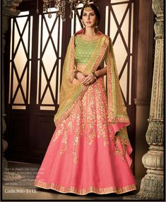 Looking for Lehenga Online: Buy Indian lehenga choli online for brides at best price from Andaaz Fashion. Choose from a wide range of latest lehenga designs. * Express delivery, Shop Now! Eid Dresses, Indian Dresses, Indian Outfits, Indian Clothes, Lehenga Skirt, Silk Lehenga, Party Wear Lehenga, Bridal Lehenga Choli, Salwar Kameez