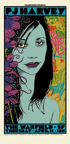 Arts Graphiques | Chuck Sperry | PJ Harvey | Tirage d'art en série limitée sur L'oeil ouvert