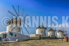 The Windmills of Mykonos Island