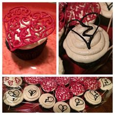 O'Hare's Tasty Treats- Some V Day/Anti-V Day cupcakes for Brian's flight. Chocolate Devils Food cupcakes with buttercream frosting. The cupcakes toppers are made out of Royal icing. They were super tasty. 2015