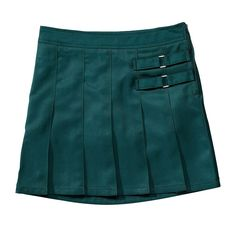 Girls 4-20 & Plus Size French Toast School Uniform 2-Buckle Solid Skort, Size: 14 Plus, Green
