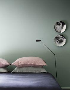 Chambre vert amande