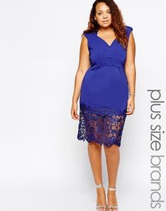 Little+Mistress+Plunge+Neckline+Pencil+Dress+With+Lace+Hem........ .... OMG............ I'm thinking New Years!