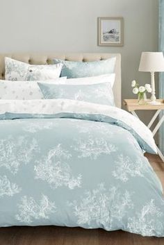 Buy 2 Pack Duck Egg Toile Bed Set from the Next UK online shop