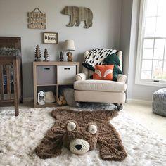 Bear Rug / Regular size Faux Bear Rug / woodland nursery / Baby room decor / animal playmat