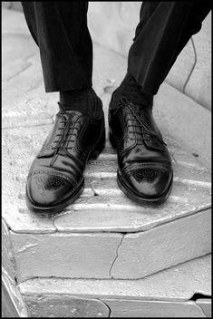 105983b0c77 Black Horween shell cordovan Alden brogued cap toe bluchers. Engineered  Garments