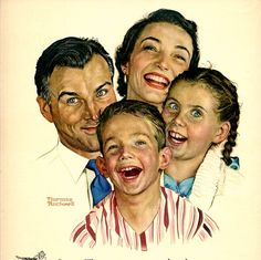 Love his work. The late Norman Rockwell. Norman Rockwell painting Norman Rockwell - I love his artwork! Norman Rockwell Prints, Norman Rockwell Paintings, The Saturdays, Munier, Creepy Kids, Fine Art, Portraits, Caricatures, Vintage Ads
