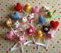 Amigurumi Lollipop Broochs