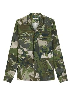 Shop Valentino Tropical Camouflage Silk Shirt from stores. Military Camouflage, Military Jacket, Camo Fashion, Valentino Bags, Shirt Shop, Fashion Addict, Designing Women, Women Wear, Silk