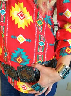 Adrian Buckaroogirl : Outfit of the Day! Aztec  Turquoise...