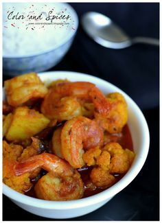 Color and Spices: Chingri-phoolkopi~Cauliflower with shrimps