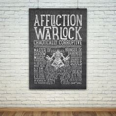 World of Warcraft Class Specialization / Roleplaying / Fantasy Inspired Poster - Affliction Warlock - Clothing, Art Prints and Posters Available now! #worldofwarcraft #wowwarlock #afflictionwarlock #worldofwarcraftwarlock #warcraftart #warlockart #realmone #realmonestore #rpgclass #warlocktshirt #worldofwarcrafttshirt #worldofwarcrafttee