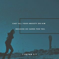 1 Peter Humble yourselves, therefore, under the mighty hand of God so that at the proper time he may exalt you, casting all your anxieties on him, because he cares for you. Be sober-minded; Bible Scriptures, Bible Quotes, Scripture Verses, Sober, Cast All Your Cares, 1 Peter 5, Bible Plan, Amplified Bible, Verse Of The Day