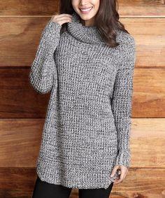 Look what I found on #zulily! Gray V-Stitch Cowl Neck Sweater - Women #zulilyfinds