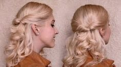 Quick and easy everyday hairstyle with curls for medium long hair