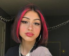 Red Wigs Lace Frontal Wigs Red Bob Wig Colored Wigs Near Me Blonde Hai – melonral Hair Color Streaks, Blonde Hair With Highlights, Hair Color Purple, Edgy Hair Colors, Pink Streaks, Gefärbter Pony, Daniel Golz, Hair Inspo, Hair Inspiration