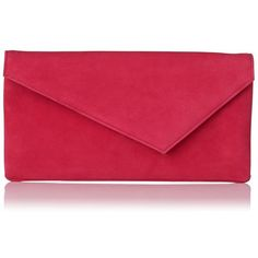 Leonie Pink Suede Clutch | Clutch Bags | L.K.Bennett (€210) ❤ liked