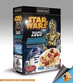 """""""Zuco Droides"""" Cereales #StarWars #OmarEzra #AmoCasaDeIdeas #DiseñoGrafico #Empaques"""