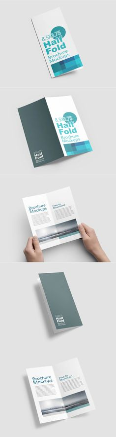 A presentation folder is one of the marketing and or branding tool - gate fold brochure mockup