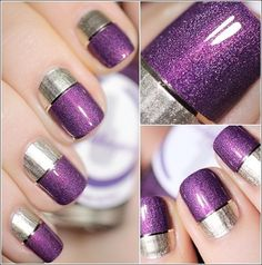 easy two toned nail designs 2017