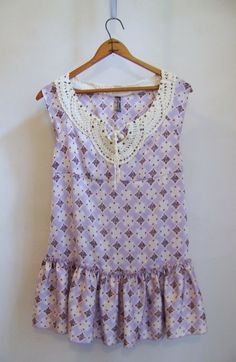 Anthropologie FREE PEOPLE Daydream Printed Satin Tunic Sz S Purple #FreePeople #Tunic