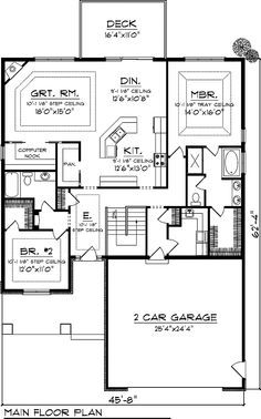 Country House Plan First Floor for Home Plan also known as the Hoskin Rustic Shingle Home from House Plans and More. House Plans And More, Family House Plans, Country Style House Plans, Craftsman Style House Plans, Ranch House Plans, New House Plans, Dream House Plans, Small House Plans, House Floor Plans