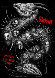 Slipknot Merchandise Graphic by Wahyu Aji on CreativeAllies.com