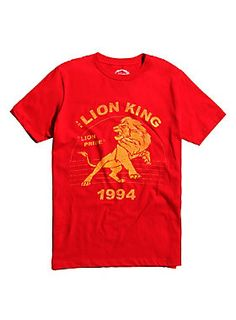 """Take it back to 1994 in this bright red T-shirt from Disney's <i>The Lion King </i>featuring a distressed retro style design that reads """"Lion Pride.""""<br><ul><li style=""""list-style-position: inside !important; list-style-type: disc !important"""">100% cotton</li><li style=""""list-style-position: inside !important; list-style-type: disc !important"""">Wash cold; dry low</li><li style=""""list-style-position: inside !important; list-style-type: disc !important"""">Imported</li><li style=""""list-style-position…"""